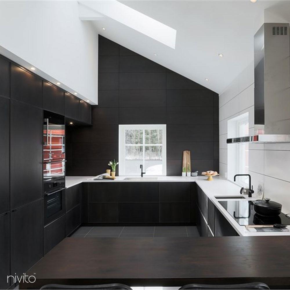 Küche wasserhahn mischbatterie schwarz