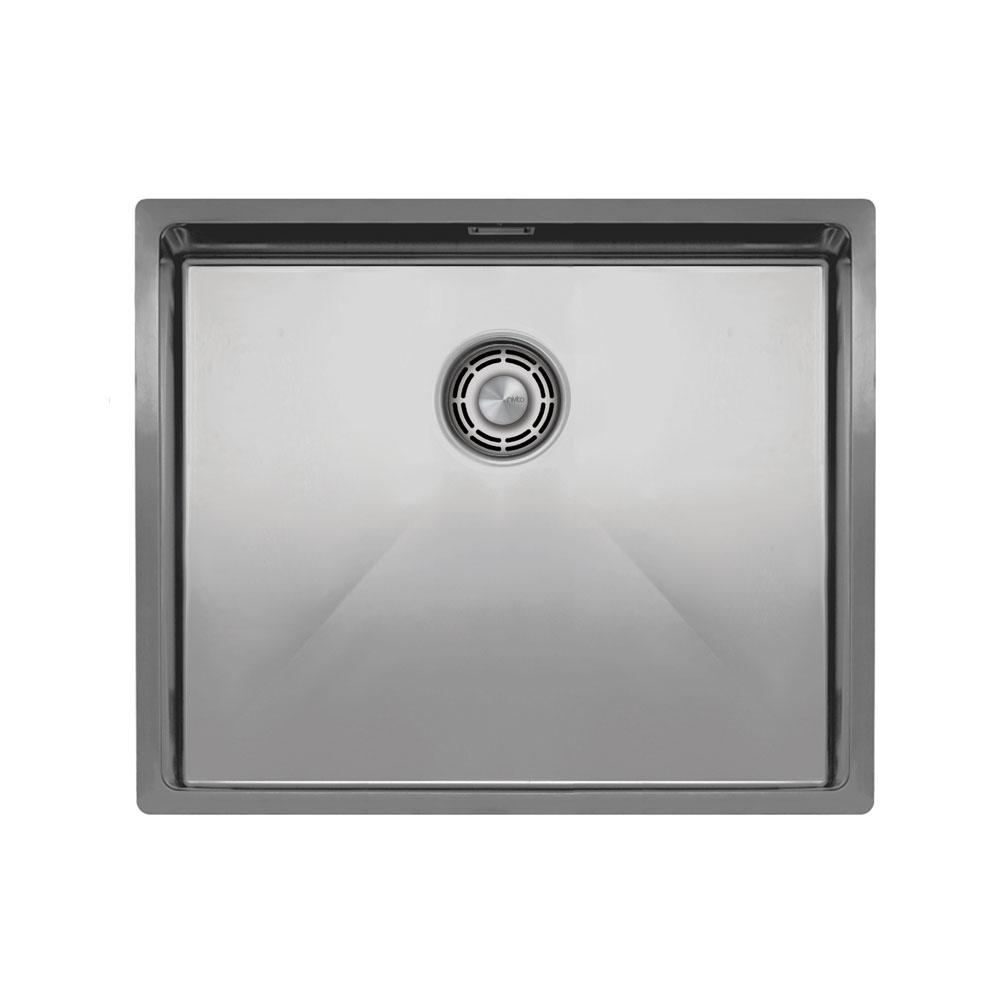 Edelstahl Küchenbecken/Küchenspülen - Nivito CU-500-B Brushed Steel Strainer ∕ Waste Kit Color