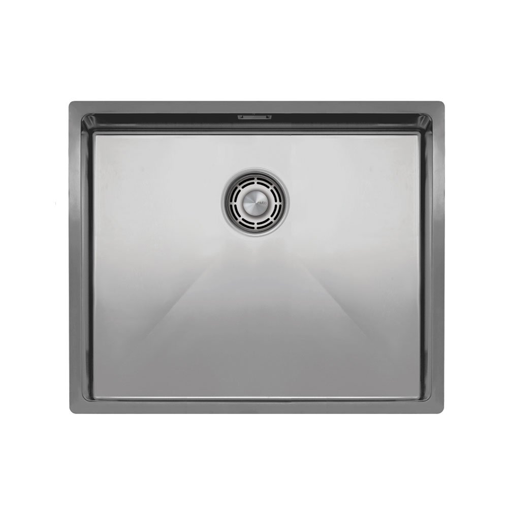 Edelstahl Küche Waschbecken - Nivito CU-500-B Brushed Steel Strainer ∕ Waste Kit Color