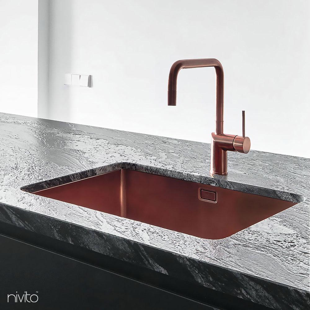 Kupfer küche waschbecken