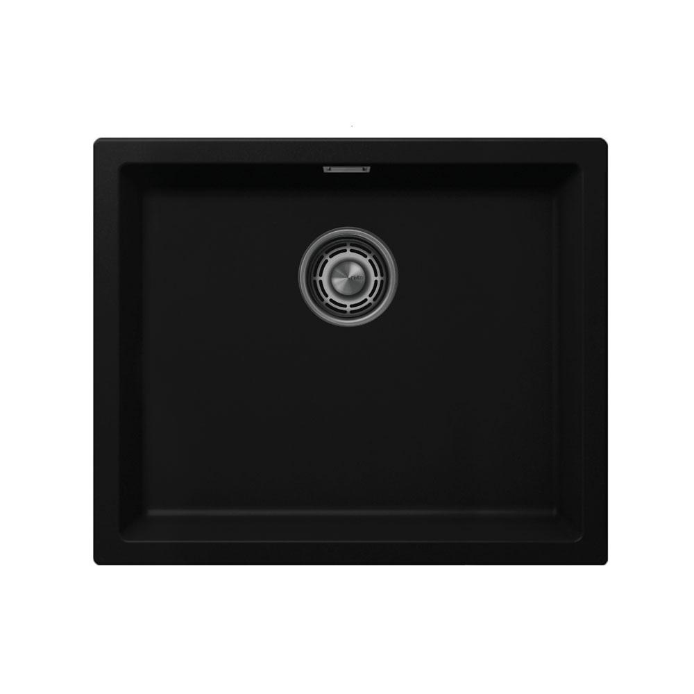 Schwarz Küchenbecken/Küchenspülen - Nivito CU-500-GR-BL Brushed Steel Strainer ∕ Waste Kit Color