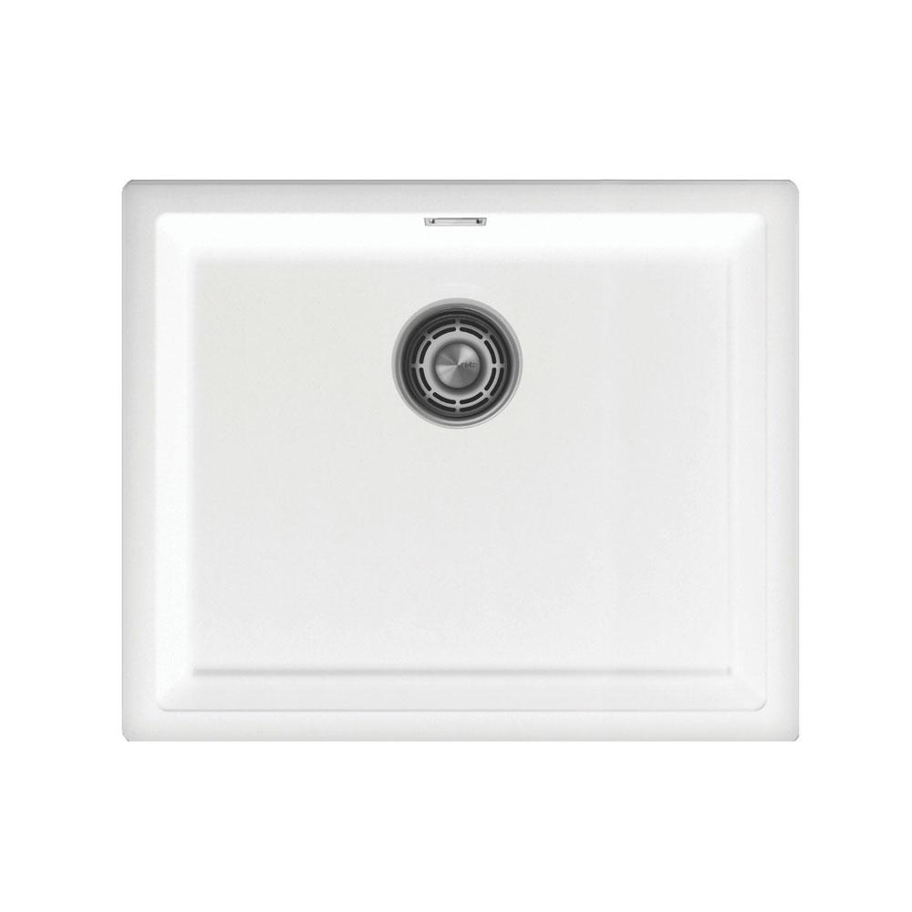 Weiß Küchenbecken/Küchenspülen - Nivito CU-500-GR-WH White Strainer ∕ Waste Kit Color