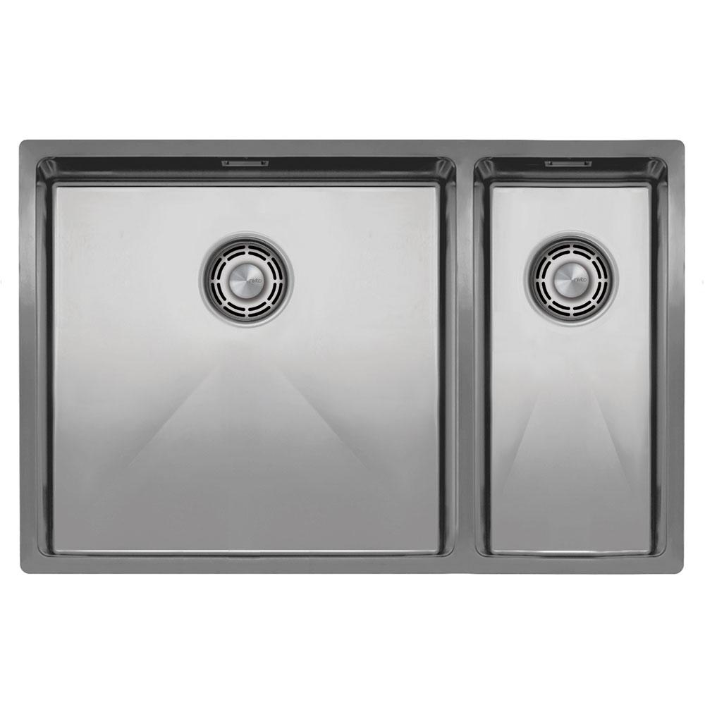 Edelstahl Küchenbecken/Küchenspülen - Nivito CU-500-180-B Brushed Steel Strainer ∕ Waste Kit Color