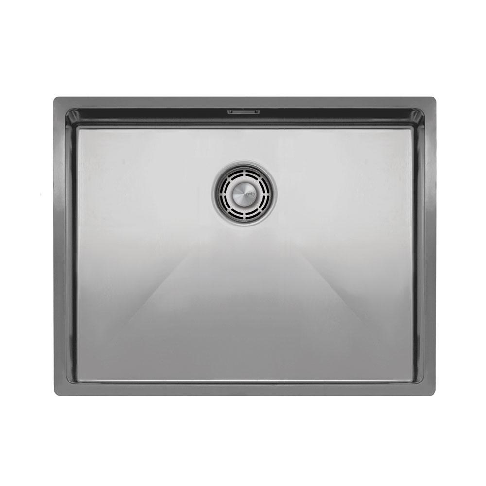 Edelstahl Küchenbecken/Küchenspülen - Nivito CU-550-B Brushed Steel Strainer ∕ Waste Kit Color