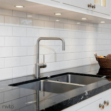 Edelstahl Küchenarmatur - Nivito 2-RH-300