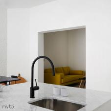 Schwarz Küchenarmatur - Nivito 4-RH-120