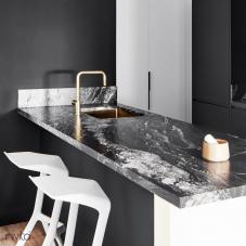 Küchenwaschbecken gold messing