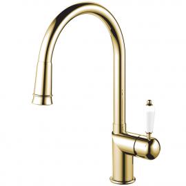 Messing/gold Küchenarmatur Ausziehbarer Schlauch - Nivito CL-260