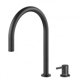 Schwarz Küchenarmatur Ausziehbarer Schlauch / Getrenntes Körper/Rohr - Nivito RH-120-VI