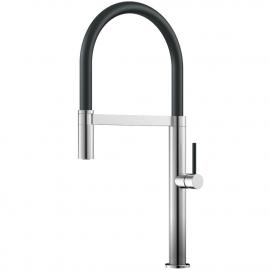 Edelstahl Küchenarmatur Ausziehbarer Schlauch / Gebürstet/Schwarz - Nivito SH-200